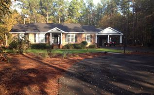 new carport and porch adds curb appeal to a 80 s brick ranch, concrete masonry, curb appeal, AFTER