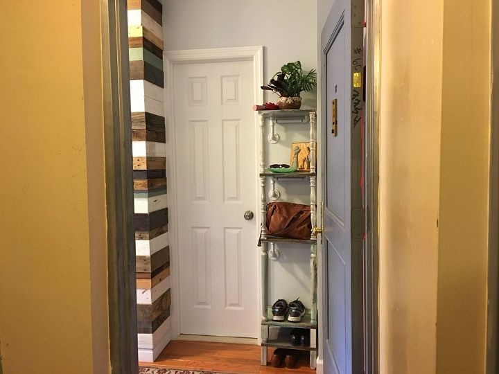 organize your entryway in a day with a corner unit, foyer, how to, woodworking projects