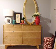 diy mid century dresser, home decor, painted furniture