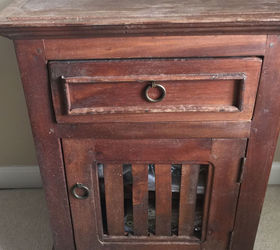 Farmhouse Nightstand Makeover Why Red Is Dead And White Is Right, Chalk  Paint, Painted