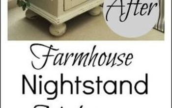 Farmhouse Nightstand Makeover: Why Red is Dead and White is Right