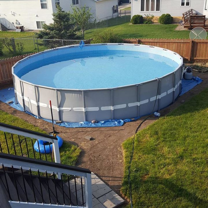 Making an Outdoor Oasis Around Your Intex Pool | Hometalk on