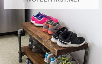 DIY Industrial Shoe Rack