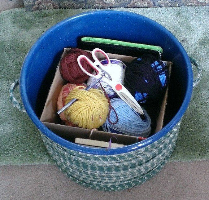 convert a lobster pot into a foot stool , crafts, repurposing upcycling