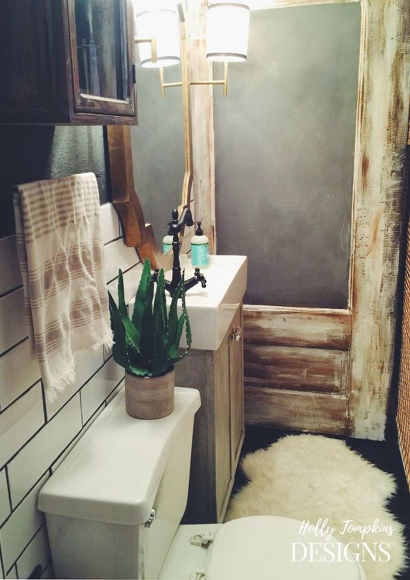 Rustic Glam Bathroom Hometalk