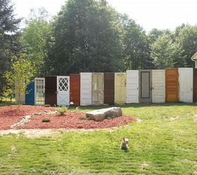 Privacy In Backyard Part - 20: Line Up Old Doors For A Whimsical Wall
