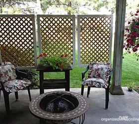 Hang Lattice Panels Around Your Porch