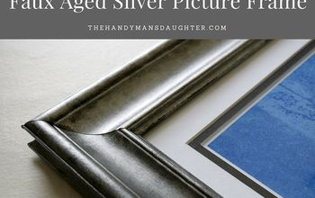 Faux Aged Silver Picture Frame