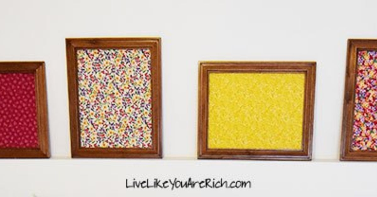 DIY Fabric Wall Art | Hometalk