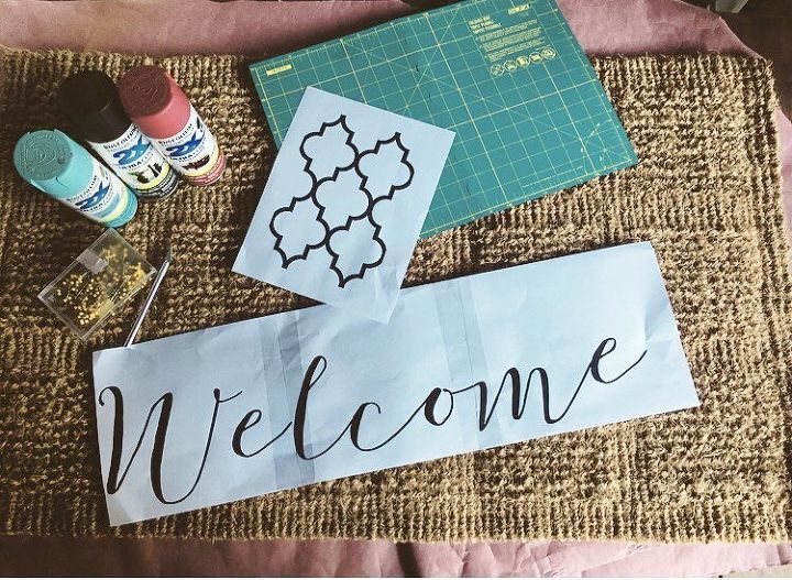 make guests smile with this cute welcome doormat, doors