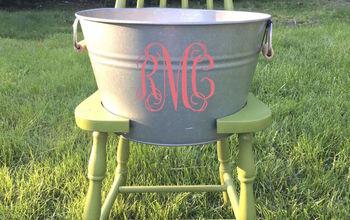 Broken Chair? Make a Cooler/Planter Bucket Chair