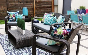 The No-Sew Option to Fake Your Way to Reupholstered Outdoor Cushions