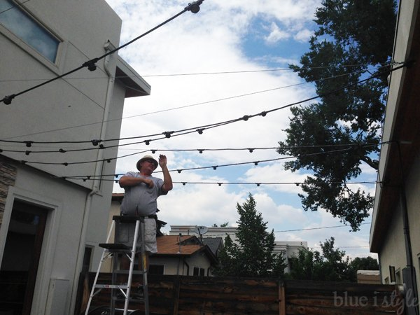 How to install commercial grade string lights hometalk how to install commercial grade string lights how to lighting outdoor living aloadofball Images