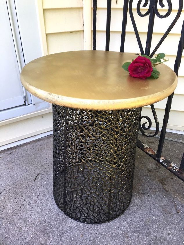 turn an inexpensive wire basket into a gorgeous diy table, diy, how to, painted furniture, repurposing upcycling