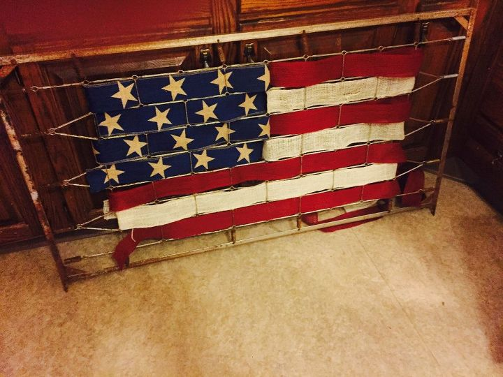 old crib to old glory, crafts, patriotic decor ideas, repurposing upcycling, seasonal holiday decor