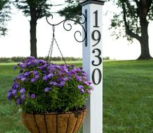 diy address post, crafts, curb appeal