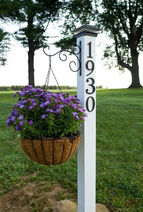 diy address post, crafts, curb appeal