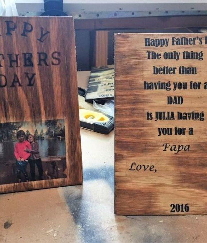 diy wood photo father s day card a keepsake dad will cherish , crafts, seasonal holiday decor