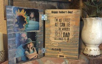 DIY Wood Photo Father's Day Card - A Keepsake Dad Will Cherish!