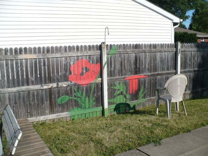 Backyard Fence Art Hometalk