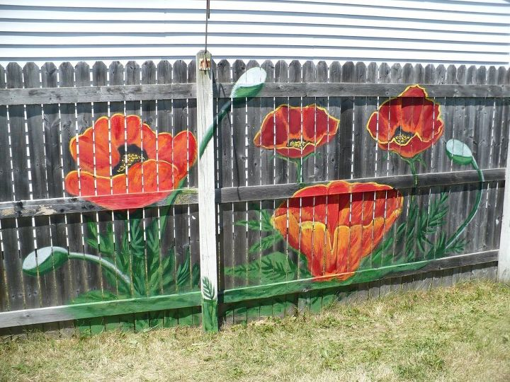 backyard fence art, fences, painting