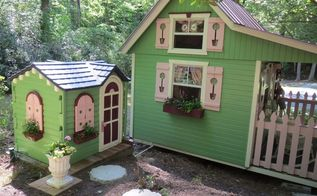 playhouse to pump house, outdoor furniture, repurposing upcycling, Matchy matchy