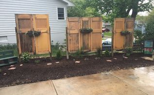 old doors give new life to backyard , container gardening, doors, gardening, repurposing upcycling