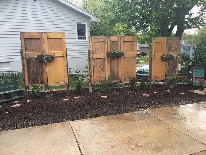 old doors give new life to backyard , container gardening, doors, gardening, repurposing upcycling