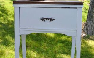 repurposed sewing cabinet to phone stand, painted furniture, repurposing upcycling, After