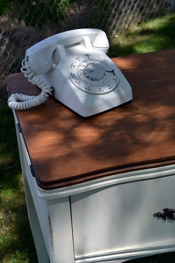 repurposed sewing cabinet to phone stand, painted furniture, repurposing upcycling