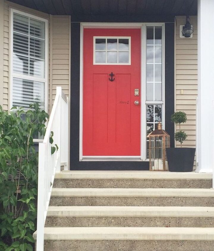 a little front door love, curb appeal, doors, painting