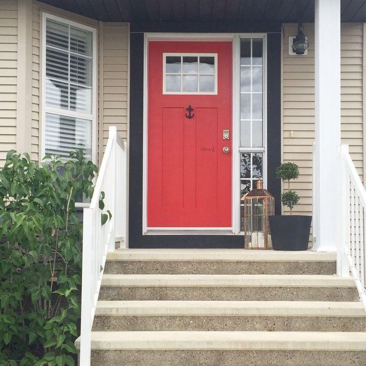 a little front door love, curb appeal, doors, painting