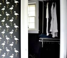 how to stencil a tiny bathroom wall, bathroom ideas, how to, painting