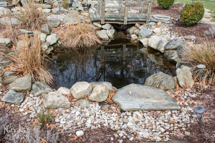 fish pond makeover, how to, outdoor living, ponds water features