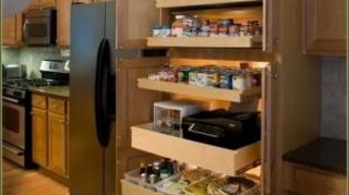 , These are not mine but they are what I am looking to do My big cabinets have a wood brace going right in the middle where the doors meet