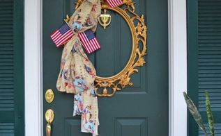 using a picture frame to create a wreath for your door, crafts, doors, repurposing upcycling, wreaths