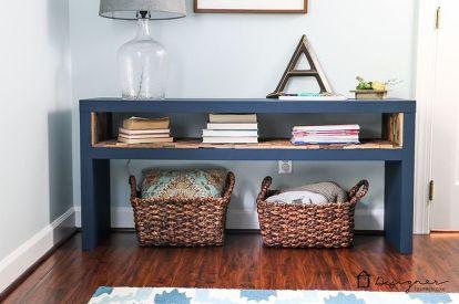 Easy Ikea Lack Sofa Table Hack Chalk Paint Diy Home Decor Living