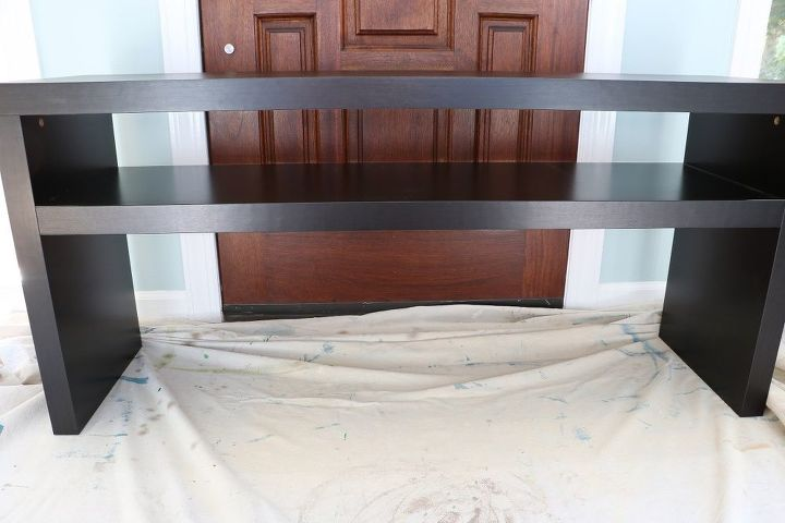 easy ikea lack sofa table hack, chalk paint, diy, home decor, living room ideas, painted furniture, woodworking projects