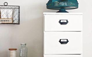 diy antique wood filing cabinet, painted furniture