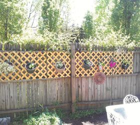 Patio Fence Coverup, Fences, Patio, Lattice And Potted Herbs