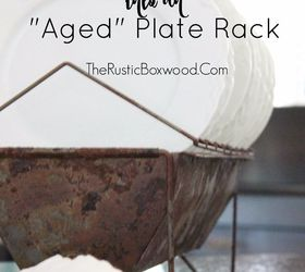 diy how to transform a new chicken feeder into an aged plate rack how to  sc 1 st  Hometalk & DIY: How to Transform a New Chicken Feeder Into an