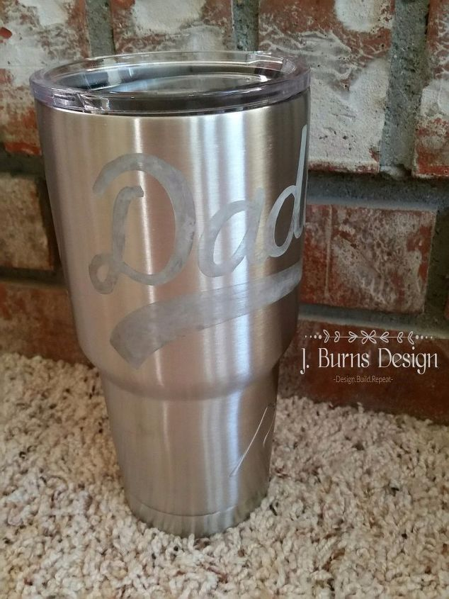 Very best DIY Christmas Gift - Etching Stainless Steel Tumblers | Hometalk XE36