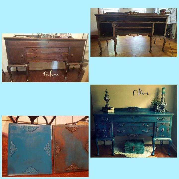 drab to fab buffet redo, painted furniture