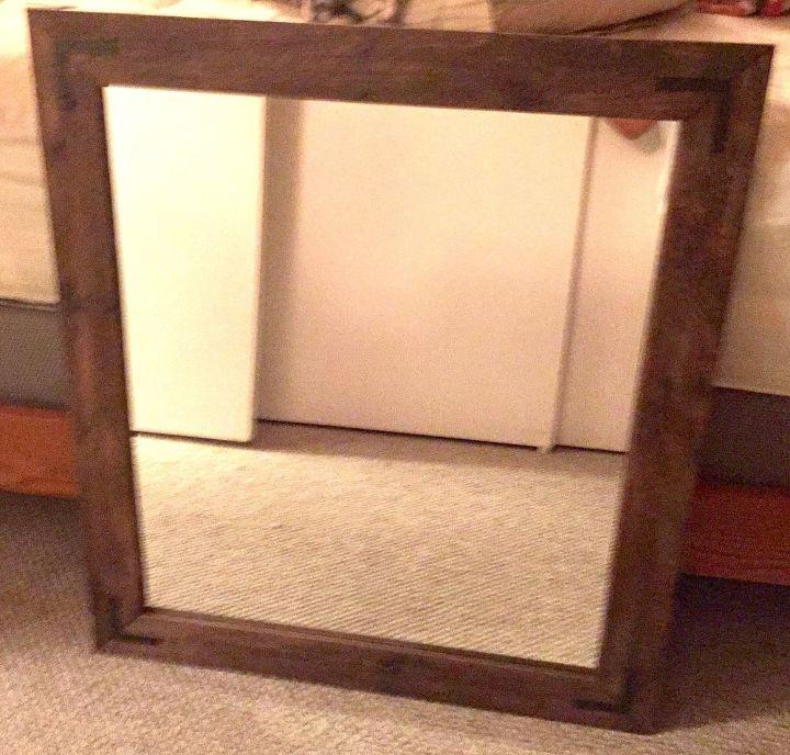 DIY Pallet Wood Framed Mirror   Hometalk