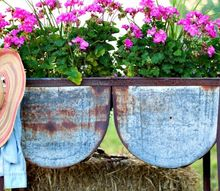 wash tub planter garden junk, bathroom ideas, container gardening, gardening, repurposing upcycling