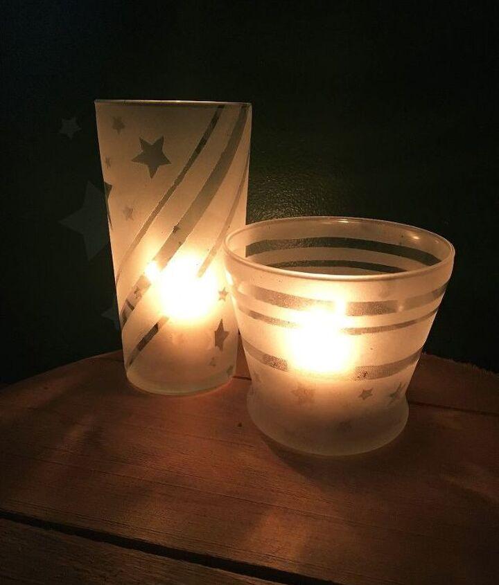patriotic star luminary dollar store glasses, lighting, seasonal holiday decor