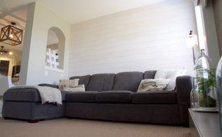 shiplap wall, diy, wall decor, woodworking projects, Fini