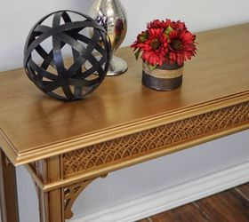Merveilleux Video Tutorial How I Painted A Gold Table With Metallic Paint, Painted  Furniture