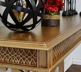 Video Tutorial How I Painted A Gold Table With Metallic Paint, Painted  Furniture