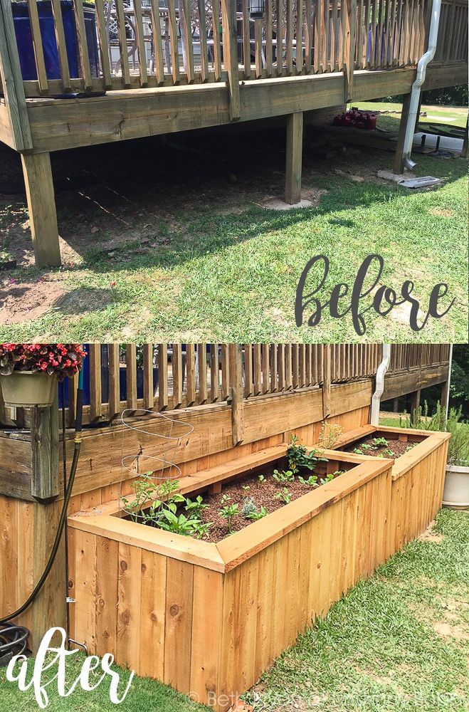 13 easiest ways to build a raised vegetable bed in your for Garden decking borders